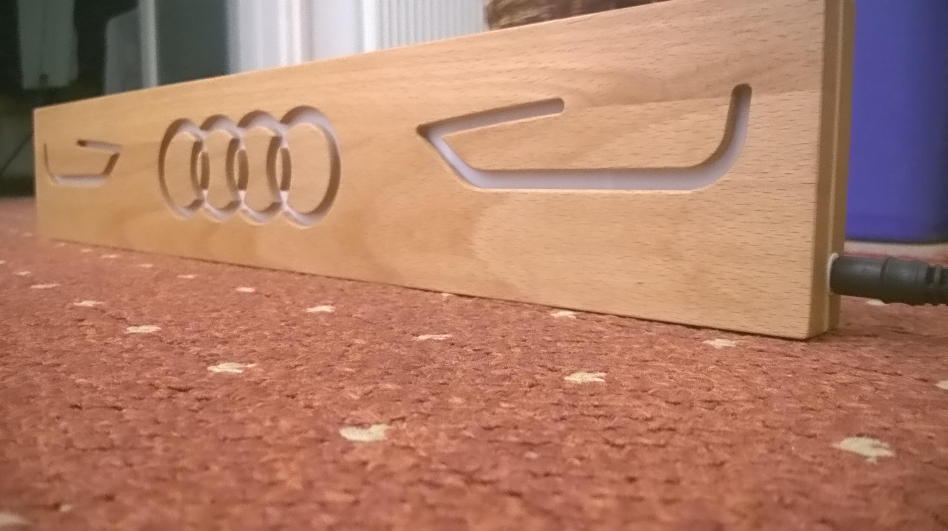 Audi embléma - RGB LED megvilágítás WiFi-s vezérlővel